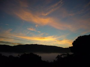 The very dawn captured by neighbor Dave Egbert.